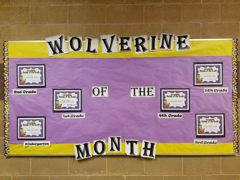 Elementary Wolverine of the Month