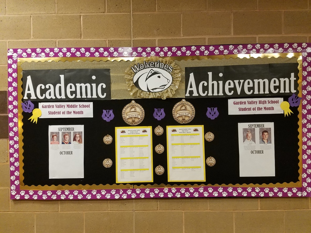 Academic Achievement Bulletin Board